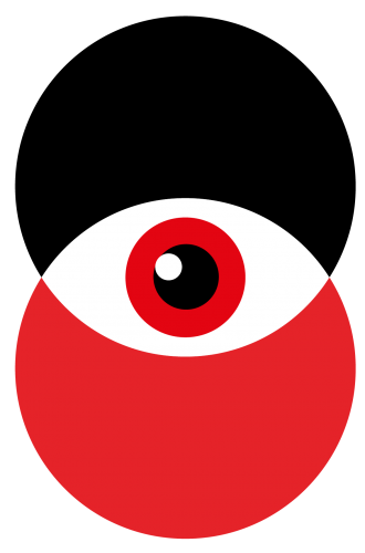 B2Impact - die B2B Marketing Agentur hat einen schwarzen und weißen Kreis mit einem Auge in der Mitte als Logo
